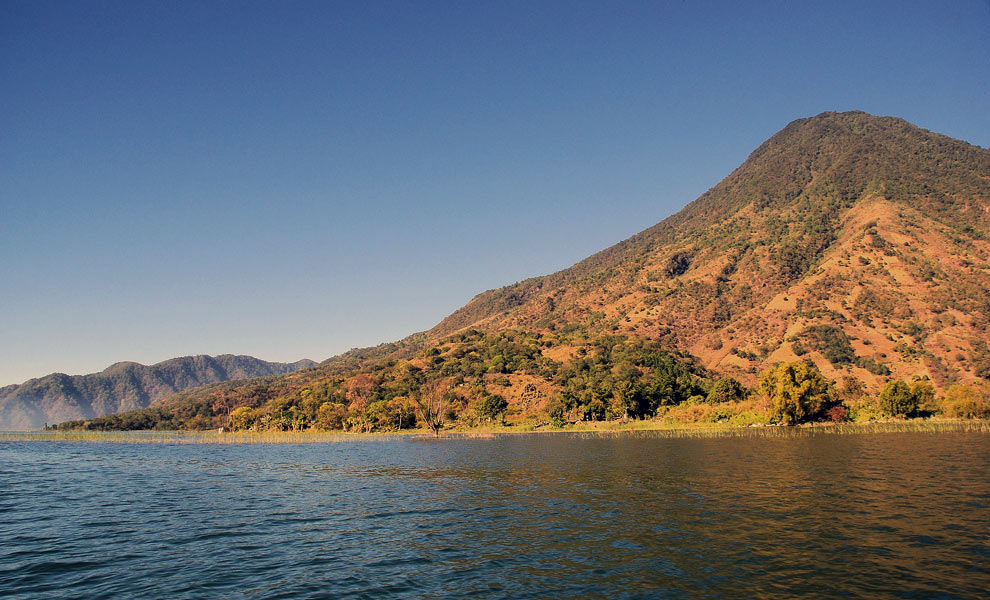 Lake Atitlan Volcano and sky