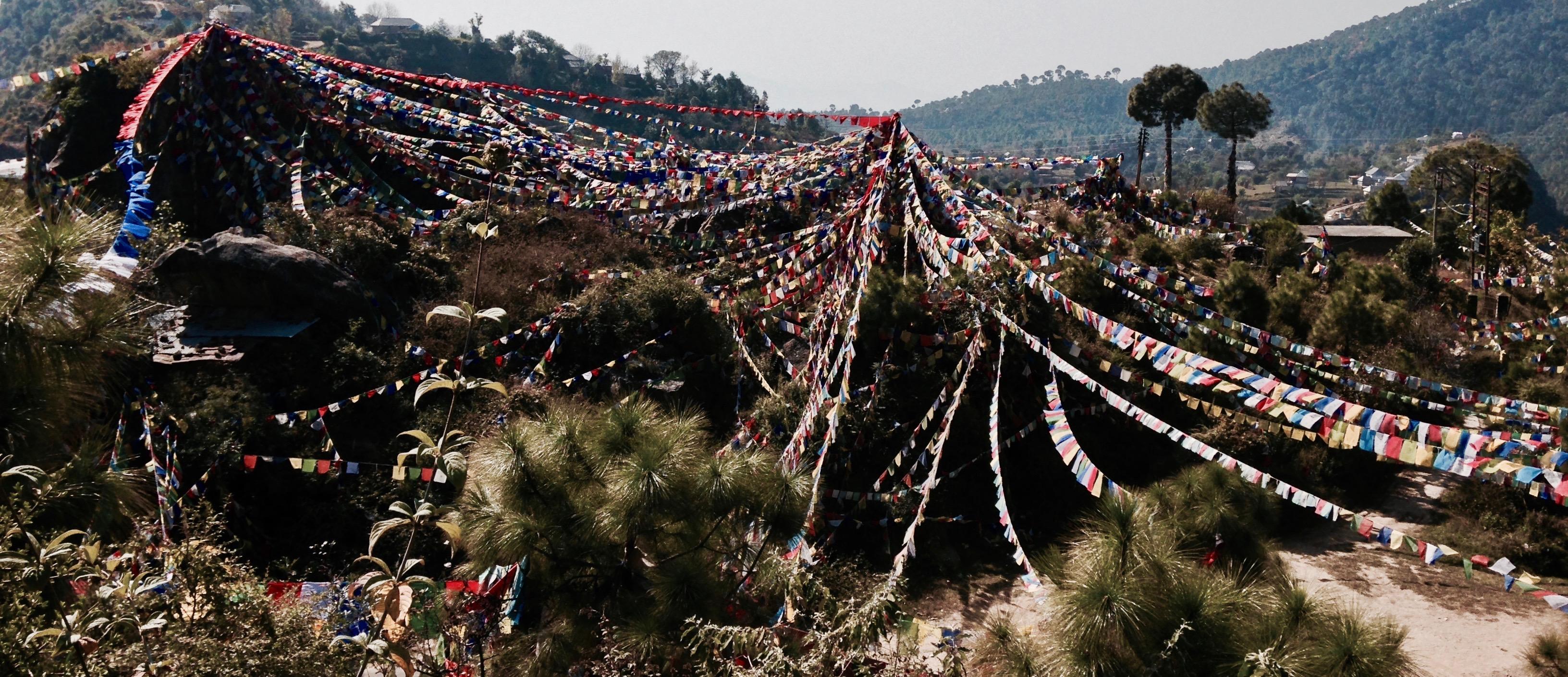 Prayer flags generating bodhicitta